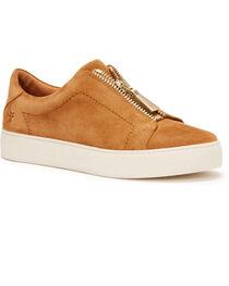 Frye Women's Tan Lena Zip Low Shoes - Round Toe, , hi-res