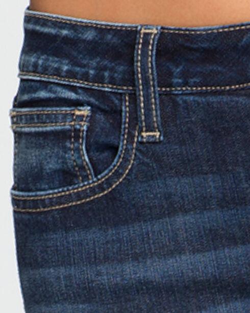 Miss Me Women's Blue Don't Blow It Mid-Rise Jeans - Straight Leg , Blue, hi-res