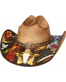 Bullhide Women's I Need A Drink Straw Hat , , hi-res