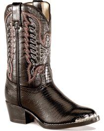 Durango Boys' Lizard Print Boots, , hi-res