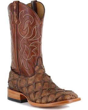 Cody James® Men's Pirarucu Exotic Boots, Brown, hi-res