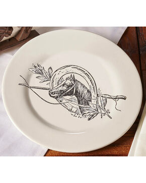 Gift Craft Ceramic Horse Design Plate, No Color, hi-res