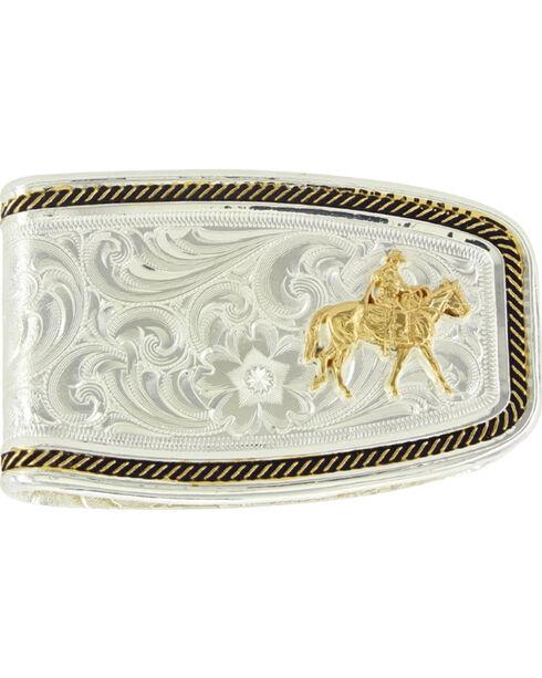 Montana Silversmiths Men's Silver Riding For The Brand Money Clip , Silver, hi-res