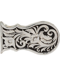 Montana Silversmiths Leather Cut Scalloped Money Clip, , hi-res