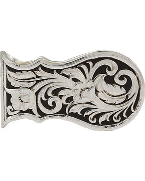 Montana Silversmiths Leather Cut Scalloped Money Clip, Silver, hi-res