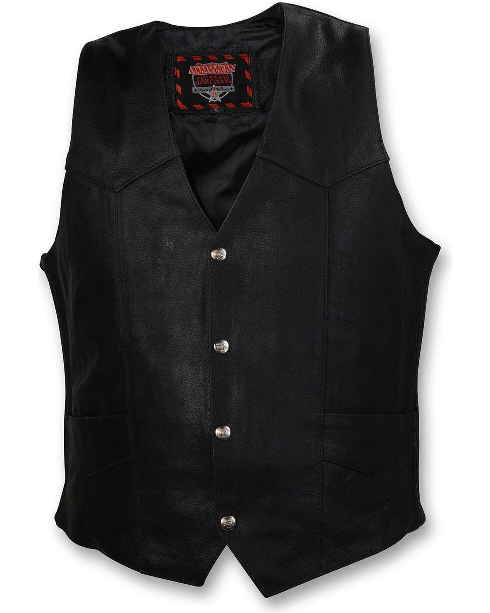 Interstate Leather Motorcycle Vest, , hi-res