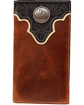 Ariat Men's Rodeo Bi-Fold Checkbook Wallet, Multi, hi-res