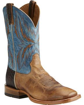 Ariat Men's Arena Rebound Western Boots, Tan, hi-res