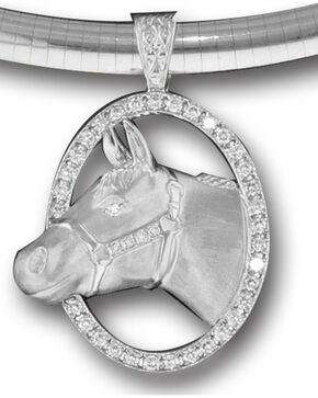 Kelly Herd Women's Sterling Silver Halter Horse Necklace, Silver, hi-res