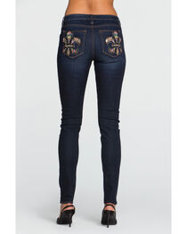 Miss Me Women's Indigo Fleur Sure Mid-Rise Jeans - Skinny , , hi-res