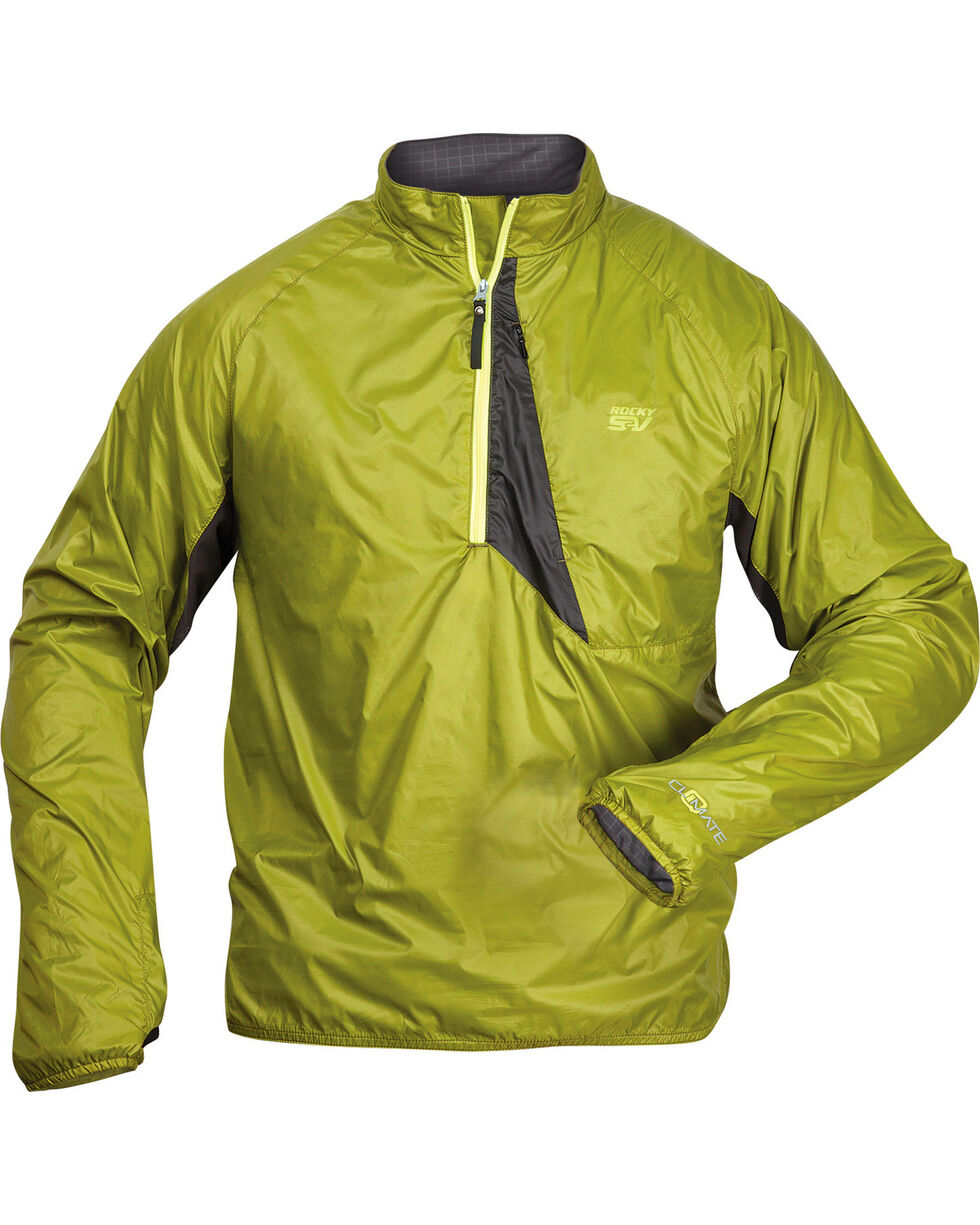 Rocky S2V Center Hold Wind Shirt, Green, hi-res