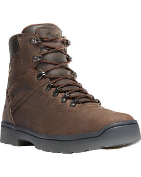 "Danner Men's Brown Ironsoft 6"" Boots - Soft Round Toe , Brown, hi-res"