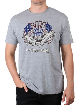 Brothers & Arms Men's Born Free T-Shirt, Grey, hi-res