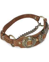 Concho Leather Boot Strap, , hi-res