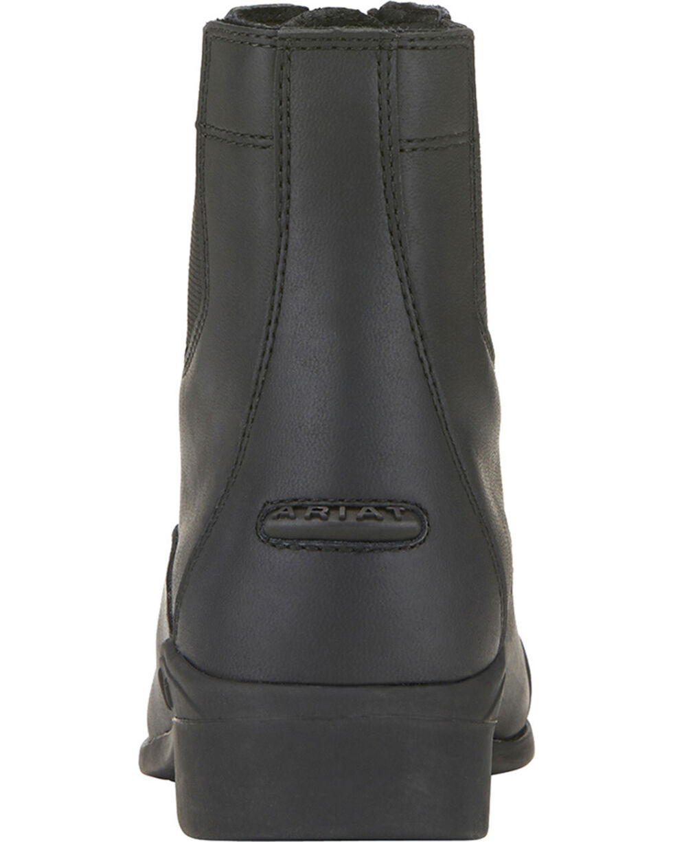 Ariat Kids' Scout Paddock Boots, Black, hi-res