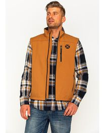 Hooey Men's Tan Fleece Lined Vest , , hi-res