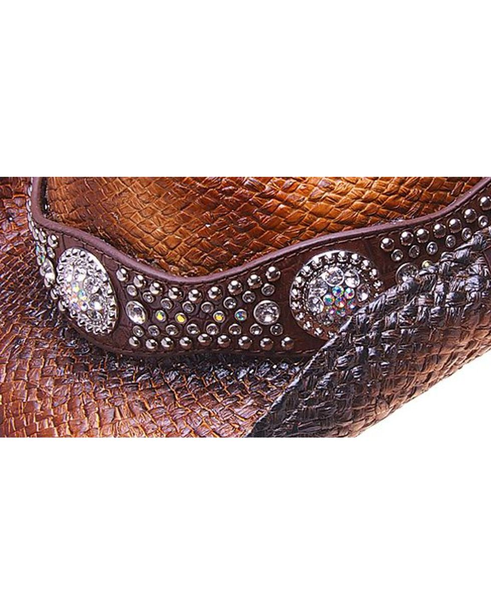 Peter Grimm Cash Studded Band Straw Cowgirl Hat, Brown, hi-res