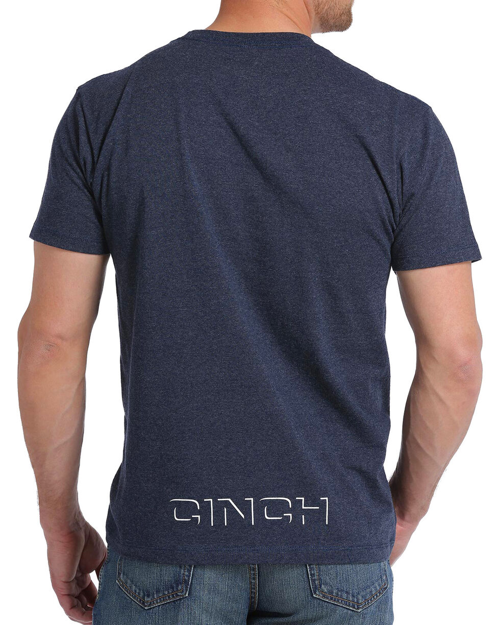 Cinch Men's Navy Screen Print Crew Neck Tee, Navy, hi-res