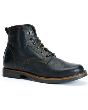 Frye Roland Lace Up Boots, Black, hi-res