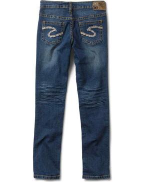 Silver Girls' Sasha Skinny Jeans - 7-16, Denim, hi-res
