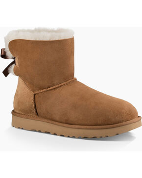 UGG Women's Ribbon Back Shortie Boots, Chestnut, hi-res