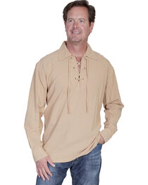 Scully Cantina Lace-Up Shirt, , hi-res