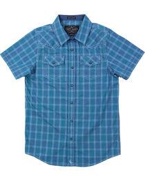 Cody James® Boys' Plaid Short Sleeve Shirt , , hi-res