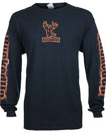 BuckedUp Men's Mud Logo Long Sleeve T-Shirt - Big, , hi-res
