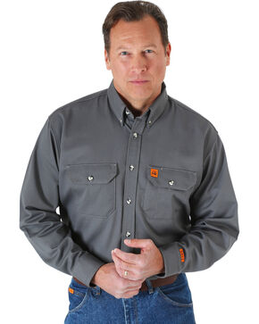 Riggs Workwear Men's Flame Resistant Work Shirt, Grey, hi-res