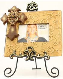 M&F Decorative Metal Picture Frame and Stand, , hi-res