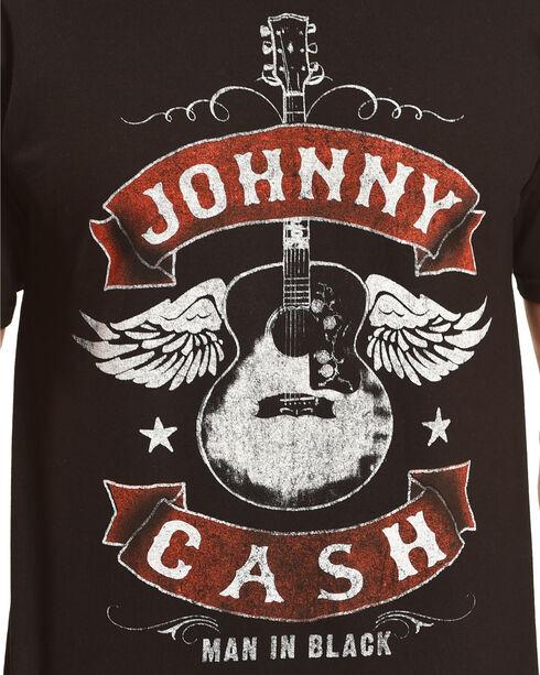 Merch Traffic Men's Black Johnny Cash Winged Guitar Tee , Black, hi-res