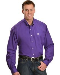 Cinch Royal Purple Button Shirt - Big & Tall, , hi-res