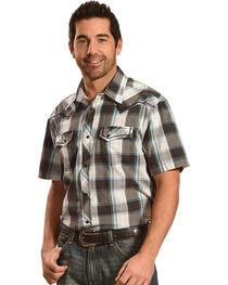 Moonshine Spirit Plaid Short Sleeve Western Shirt, , hi-res