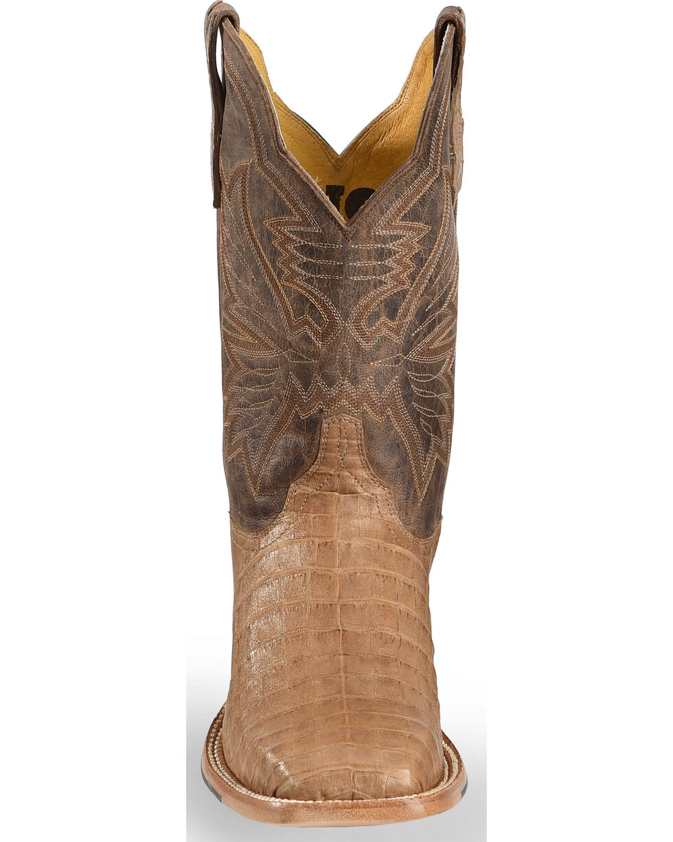 Cinch Men's Classic Caiman Square Toe Exotic Boots, Chocolate, hi-res