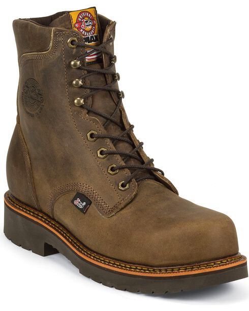 Justin Original Workboots Men's J-Max Composition Toe Work Boots, Crazyhorse, hi-res