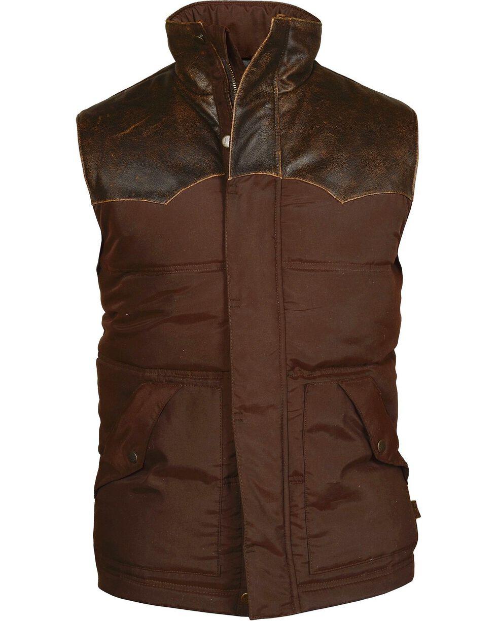 STS Ranchwear Men's Lucas Down Style Brown Vest - Big & Tall - 2XL-3XL, Brown, hi-res