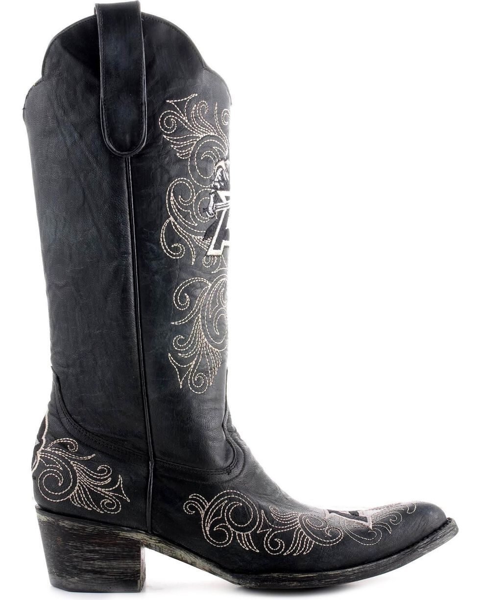 Gameday West Point Army Cowboy Boots - Pointed Toe, Black, hi-res