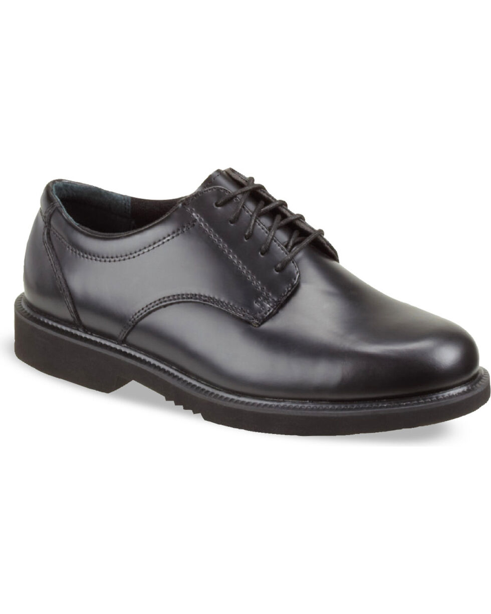 Thorogood Men's Classic Leather Academy Oxfords, Black, hi-res
