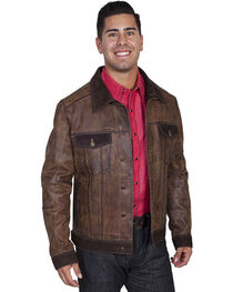 Scully Men's Vintage Calf Jean Jacket, , hi-res