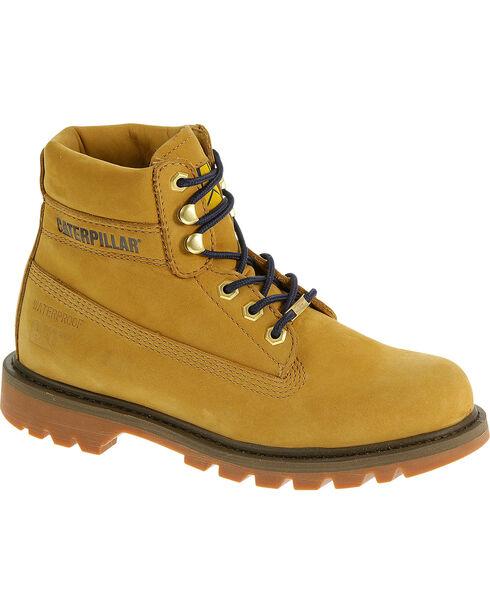 """Caterpillar Women's Watershed Waterproof 6"""" Work Boots, Honey, hi-res"""