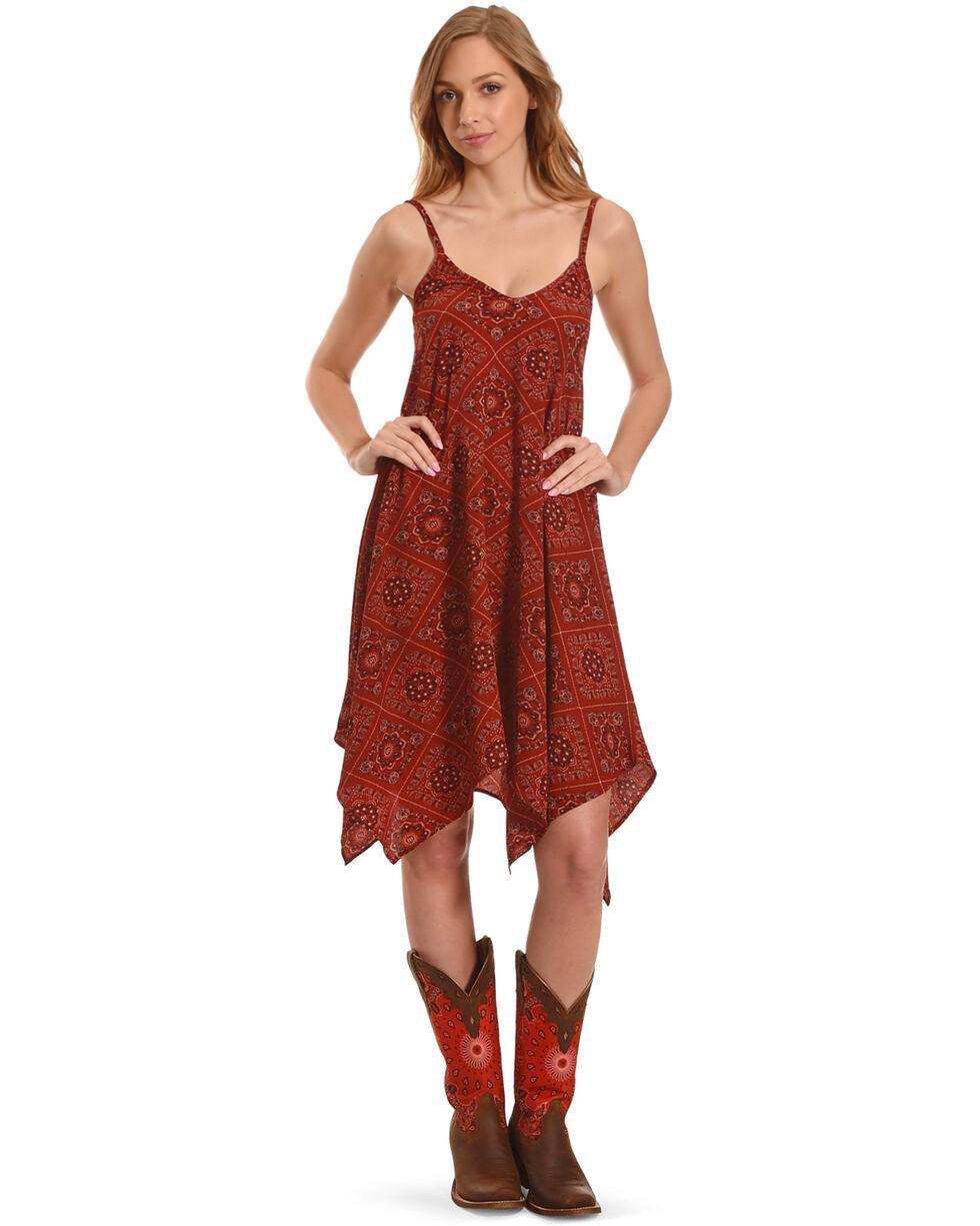 Jody of California Women's Bandana Print Dress, Rust Copper, hi-res