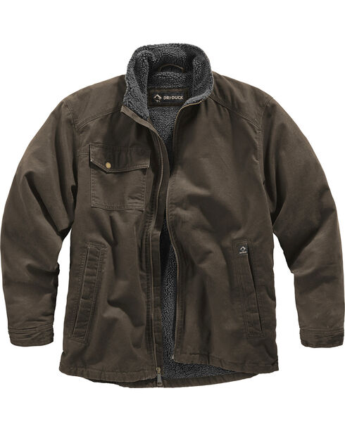 Dri Duck Men's Endeavor Jacket - Big and Tall, Brown, hi-res