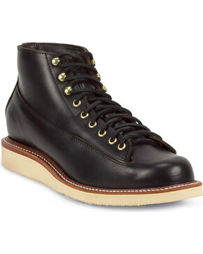 Chippewa Men's 1958 Black General Utility Boots - Round Toe, Black, hi-res