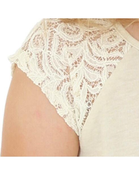 Wrangler Girls' Short Sleeve Cactus Print Tee, Cream, hi-res