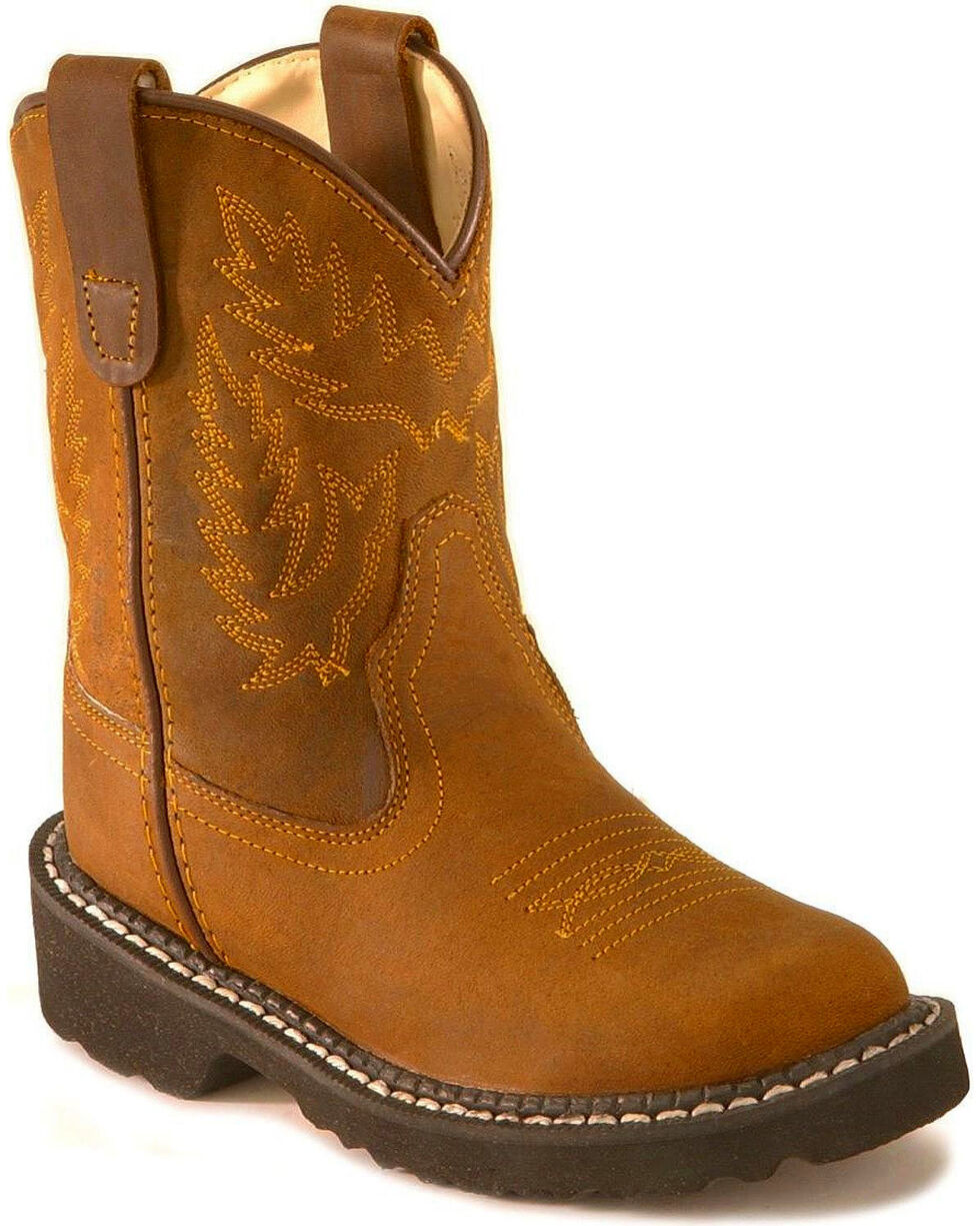 Jama Children's Tubies Western Boots, Distressed, hi-res