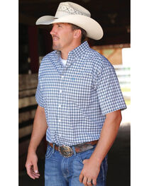Cinch Men's White Embroidered Short Sleeve Shirt , , hi-res