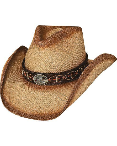 Bullhide Men's Left Handed Gun Straw Hat, Natural, hi-res