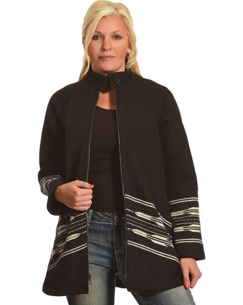 Pendleton Women's Black Swing Coat , Black, hi-res