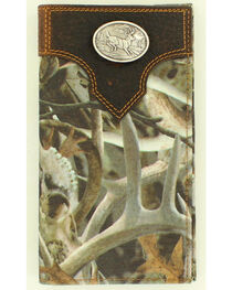 Ariat Camo Deer Concho Rodeo Wallet, , hi-res