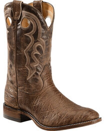 """Boulet Men's Super Roper 14"""" Western Boots, Walnut, hi-res"""